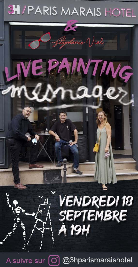 mesnager live painting
