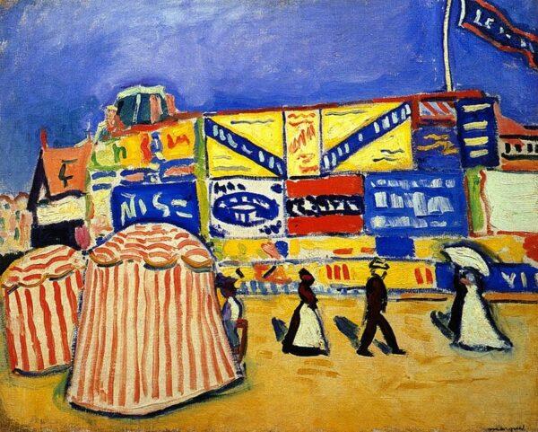 visio conférence paysage pointilliste fauve et cubiste
